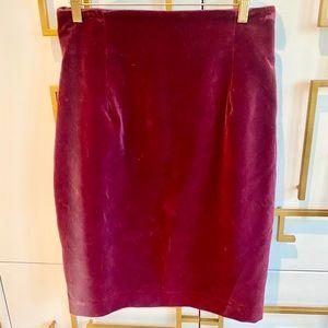 Vintage Spitalnick Cotton Velvet Pencil Skirt EUC
